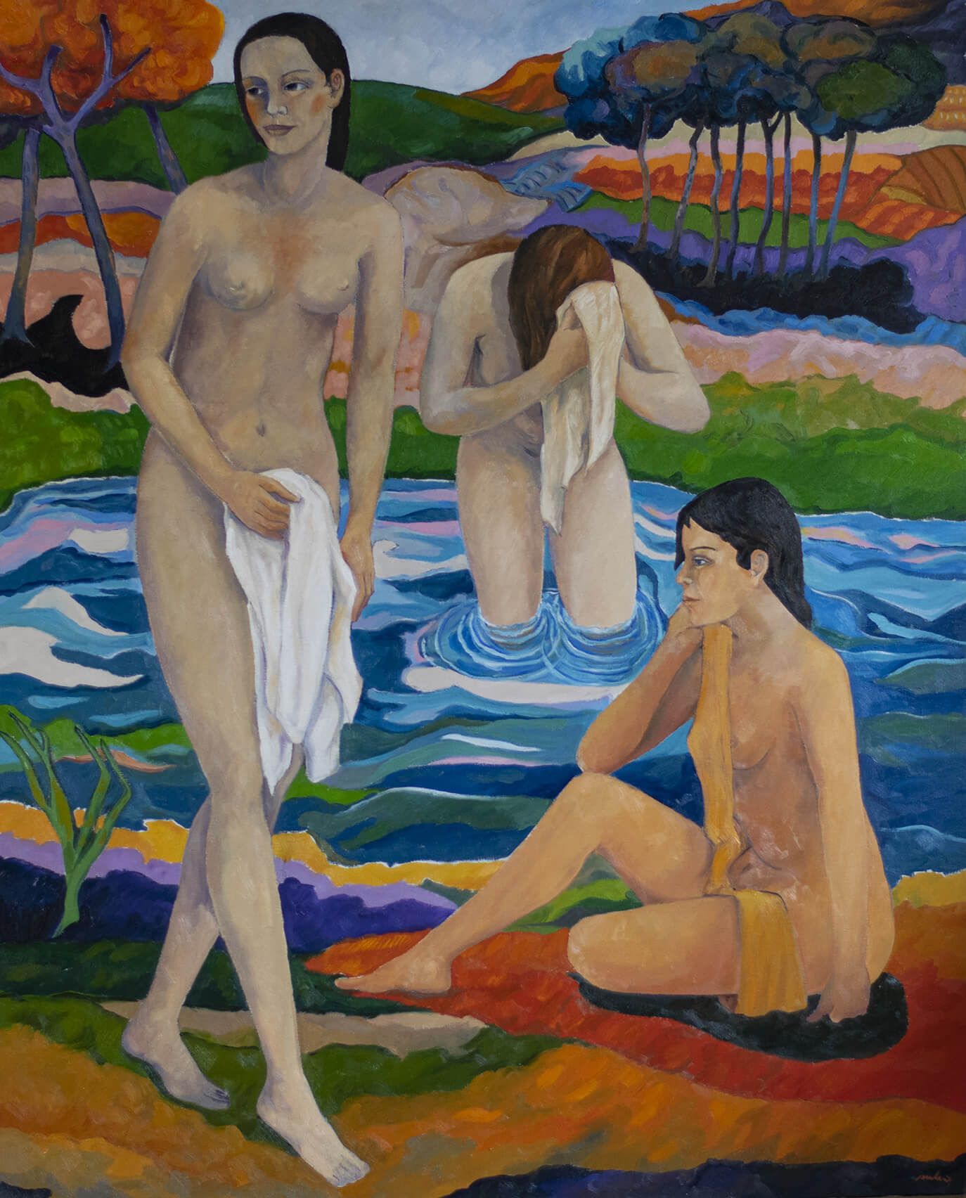Le Tre Bagnanti, Three Bathers